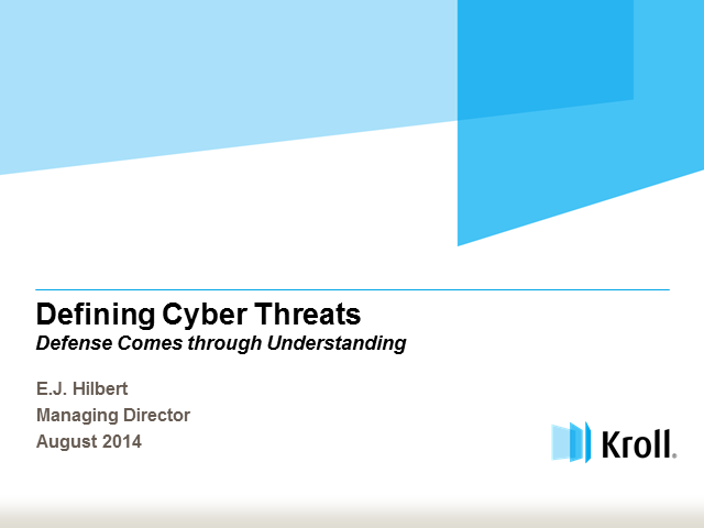 Defining Cyber Threats: Understanding is the Key to Defense