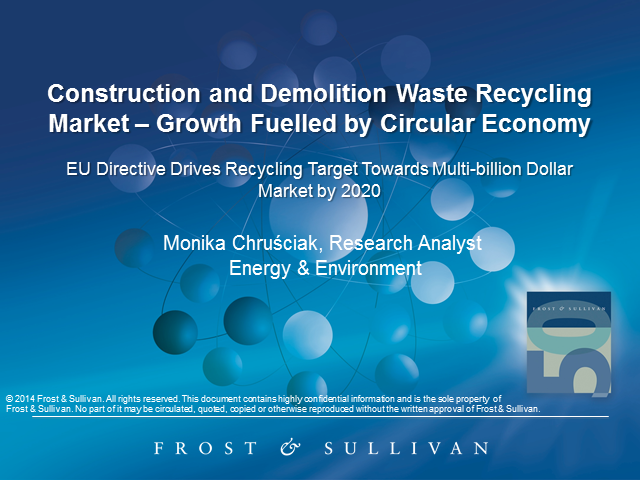 Construction and Demolition Waste Recycling Market Growth Fuelled by Circular Ec