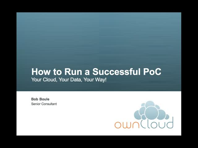 How to Run a Successful ownCloud Proof-of-Concept