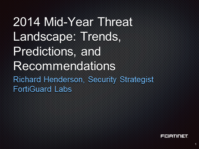 Essential Security Trends, Predictions and Recommendations from Fortiguard Labs