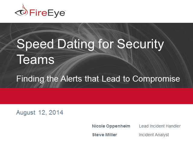 Speed Dating for Security Teams: Finding Alerts that Lead to Compromise