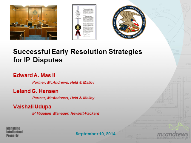 Successful early resolution strategies for IP disputes