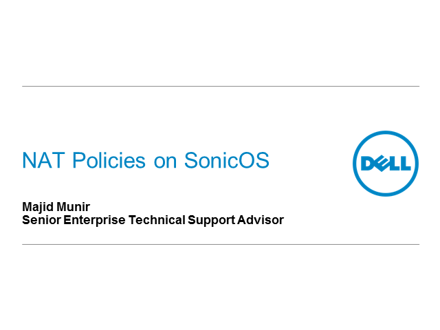 NAT Policies on SonicOS