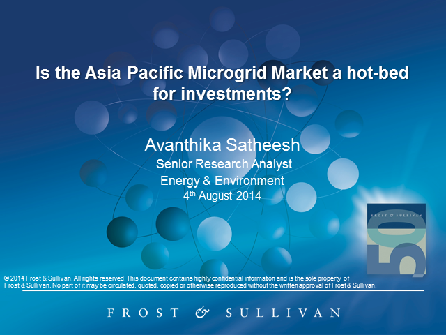 Is the Asia Pacific Microgrid Market a Hot-bed for Investments?