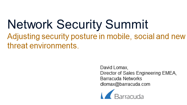 Adjusting Security Posture in Mobile, Social and New Threat Environments