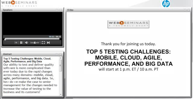 Top 5 Testing Challenges: Mobile, Cloud, Agile, Performance, and Big Data
