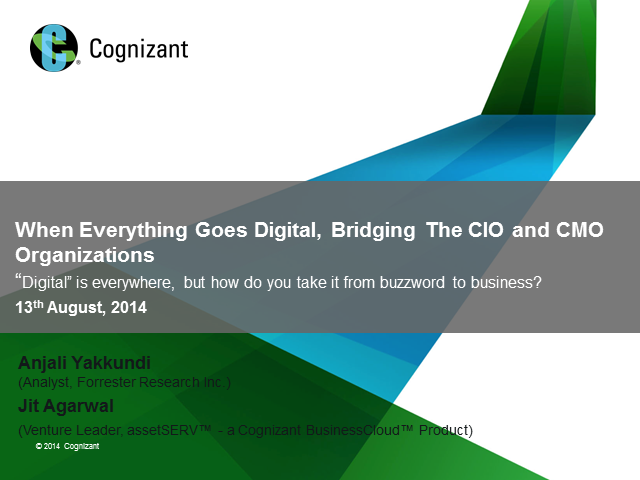 When Everything Goes Digital, Bridging The CIO and CMO Organizations