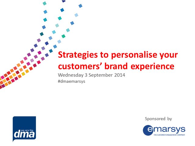 Strategies to personalise your customers' brand experience