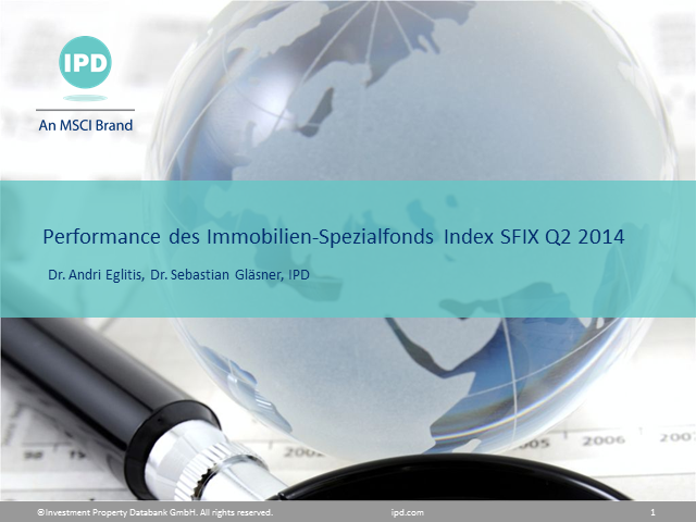 IPD Webinar zum Thema: Performance des Immobilien Spezialfonds Index SFIX