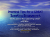 Practical Tips for a Great Speaking Engagement