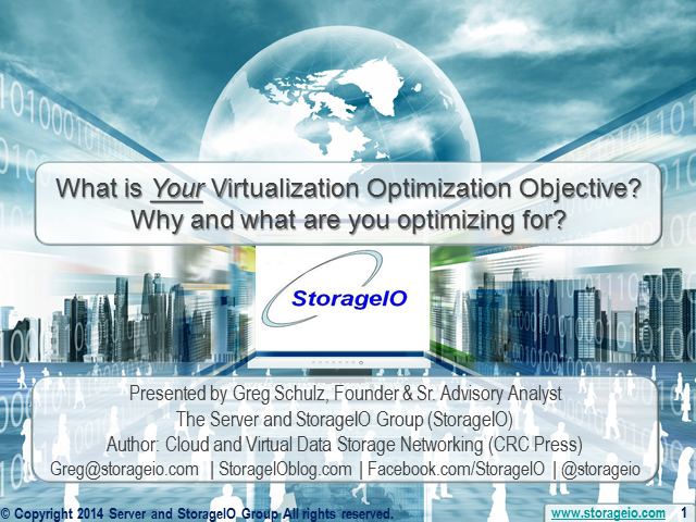 What Is Your Virtualization Optimization Objective?