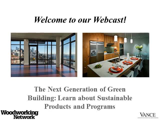 Next Generation of Green Building: Sustainable Products & Programs