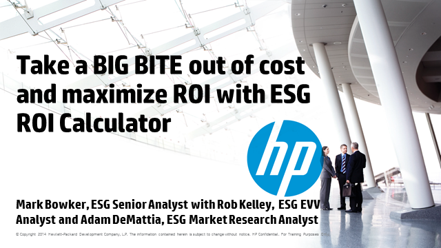 Take a big bite out of cost and maximize ROI with ESG ROI Calculator built for H