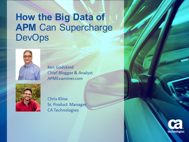 How the Big Data of APM can Supercharge DevOps