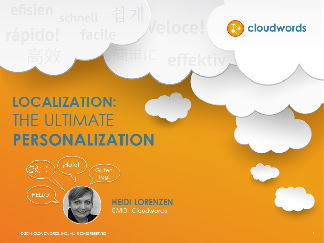 Localization: The Ultimate Personalization