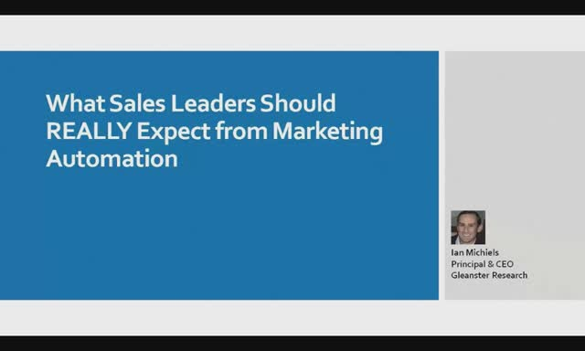 What Sales Leaders Should Really Expect From Marketing Automation