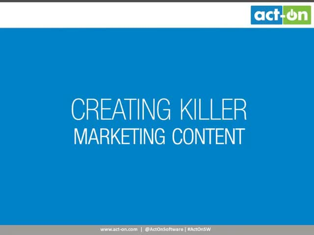 Creating Killer Marketing Content