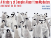 A History of Google Algorithm Updates - and what to do next
