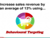 Increase sales revenue by an average of 13% using Behavioural Targeting