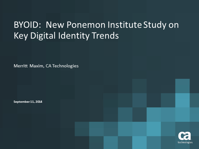 BYOID: New Ponemon Institute Study on Key Digital Identity Trends (APJ Event)