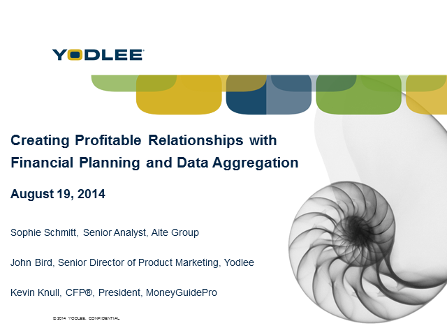 Creating Profitable Relationships with Financial Planning and Data Aggregation