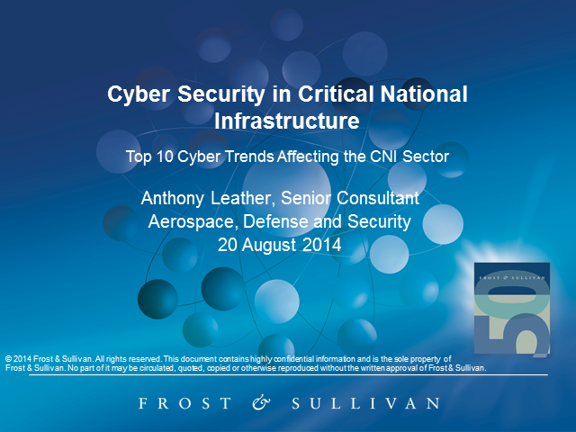 Cyber Security in Critical National Infrastructure