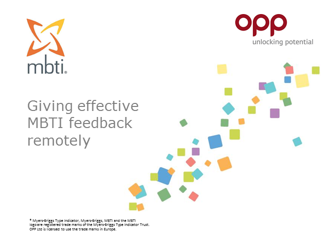 Giving effective MBTI feedback remotely
