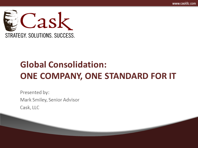 Global Consolidation: One Company, One Standard for IT
