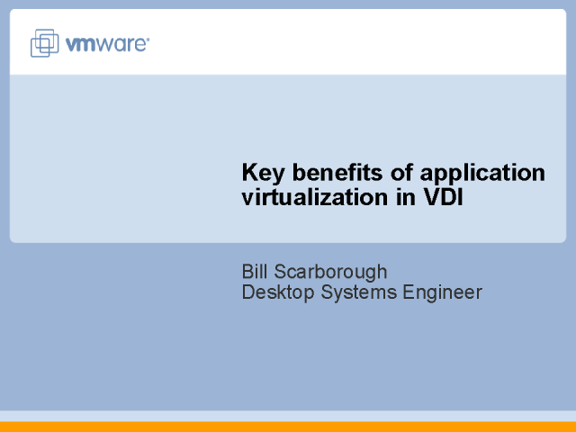 Key benefits of application virtualization in VDI