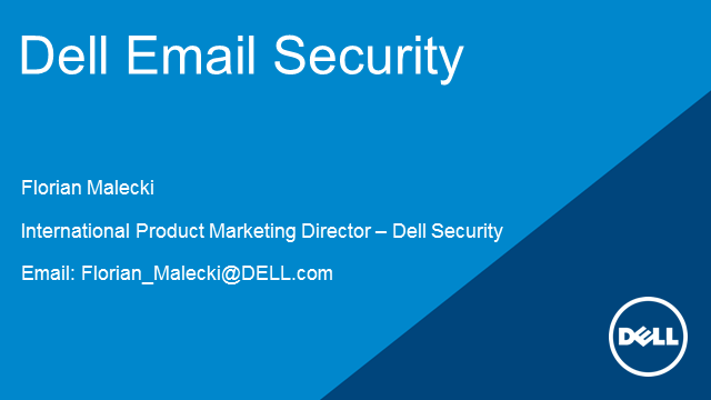 Simplify Secure Email Exchange with Dell SonicWALL Email Security release 8.0