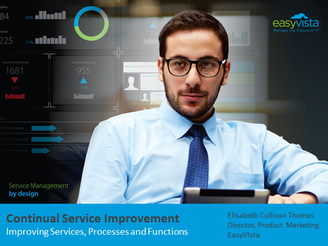Continual Service Improvement – Improving Services, Processes and Functions