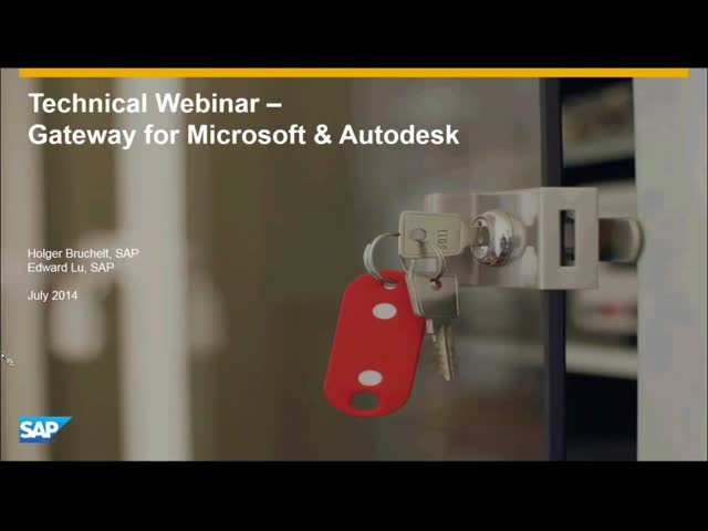 Deep Dive Webinar: Integrating Autodesk and SAP using SAP Gateway for Microsoft