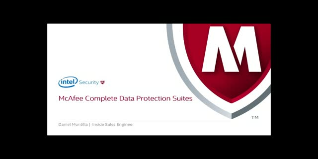Nuevo webinar: McAfee Complete Data Protection Suite