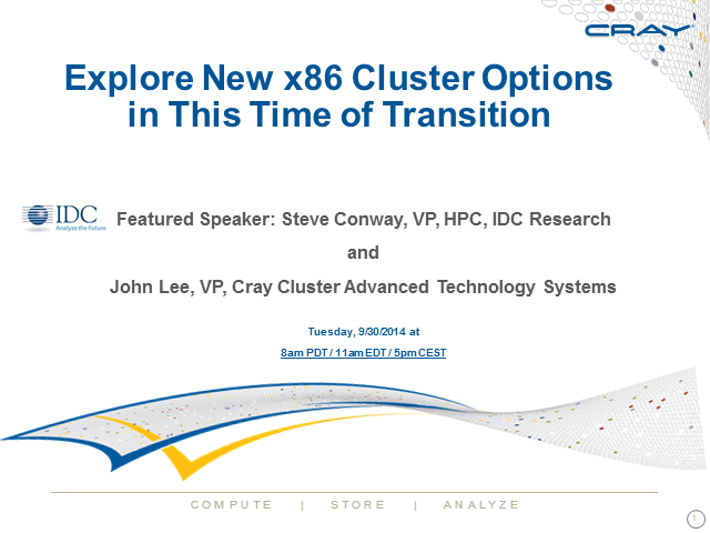 Explore New x86 Cluster Options in This Time of Transition