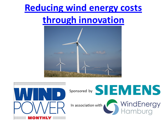 Reducing wind energy costs through innovation