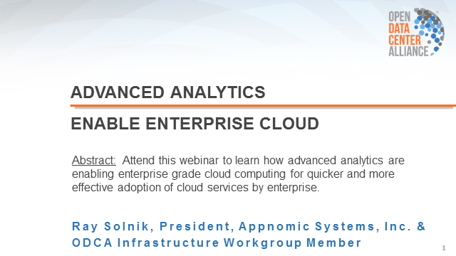 Advanced Analytics Enable Enterprise Cloud