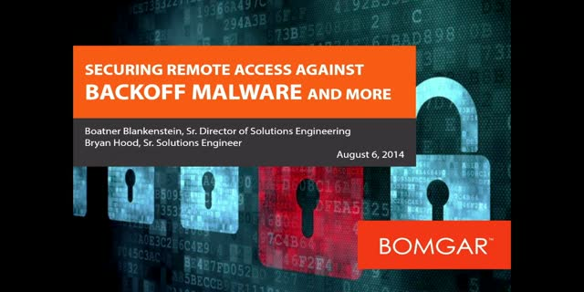 Securing Remote Access against Backoff Malware and More