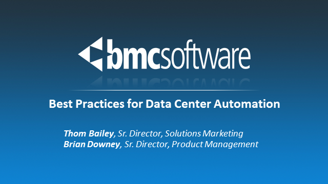 Best Practices for Data Center Automation