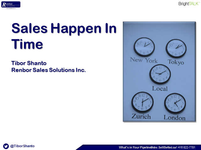 Sales Happen In Time