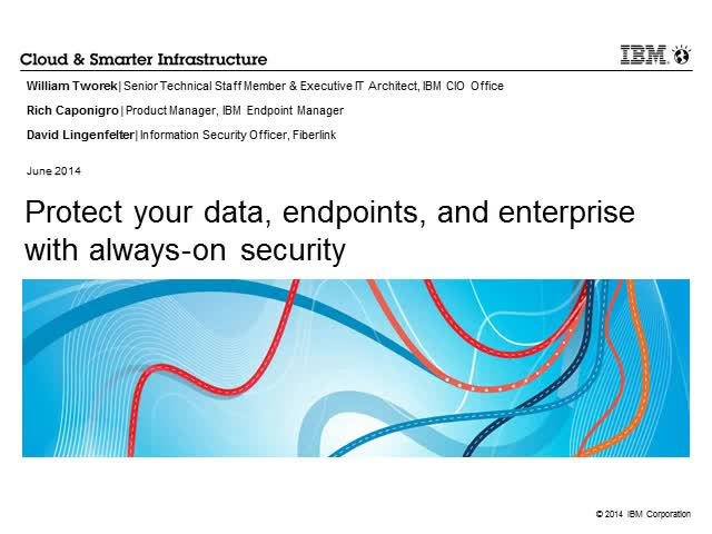 Protect your data, endpoints, and enterprise with always-on security