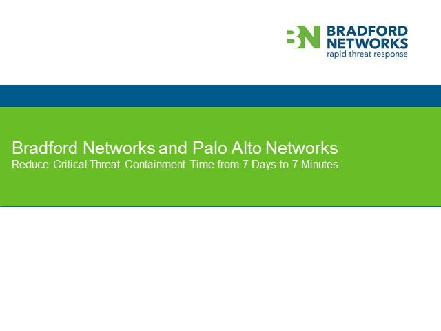Reduce Threat Containment Time from 7 Days to 7 Minutes with Palo Alto Networks