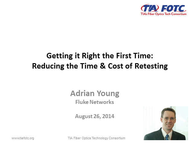 Getting it right the first time – Reducing the time & cost of retesting