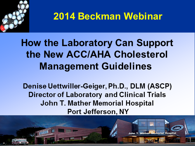How the Laboratory Can Support the New ACC/AHA Cholesterol Management Guidelines