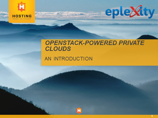 Introduction to OpenStack-Powered Private Clouds