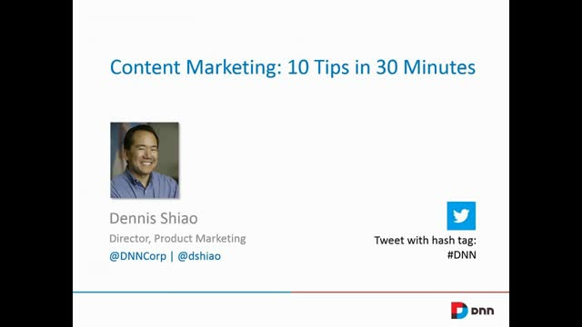 Content Marketing: 10 Tips in 30 Minutes