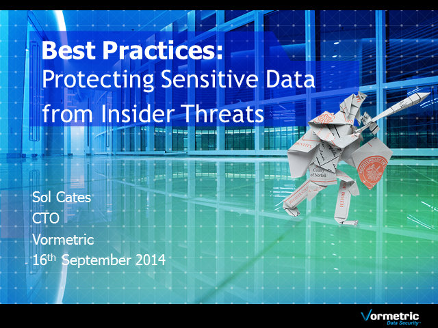 Best Practices for Protecting Sensitive Data from Insider Threats