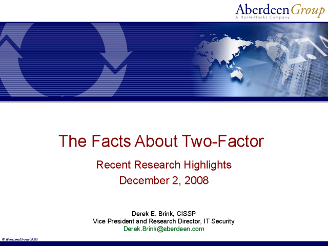 The Facts about Two-Factor: Best-in-Class User Authentication