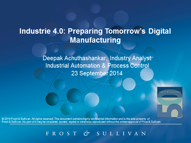 Industrie 4.0: Preparing Tomorrow's Digital Manufacturing
