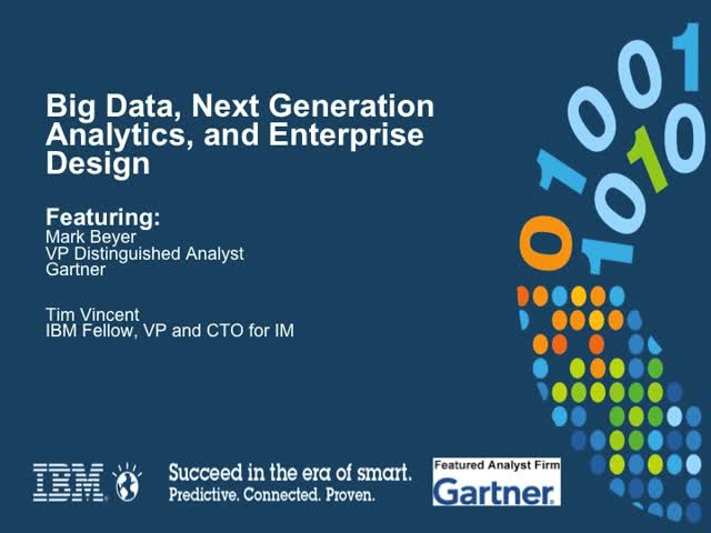 Big Data, Next Generation Analytics and Enterprise Design
