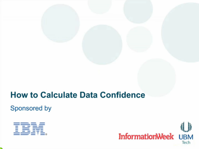 How to Calculate Data Confidence